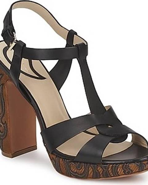 Černé sandály ETRO