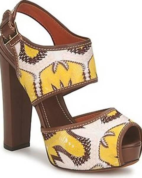Hnědé sandály Missoni