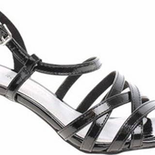Marco Tozzi Sandály Dámské sandály 2-28301-22 black patent Černá