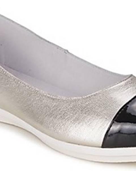 Stříbrné baleríny Alba Moda