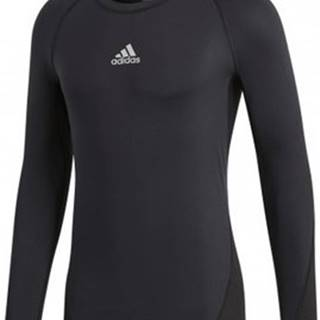 adidas Trička s krátkým rukávem Alphaskin Sport LS Černá
