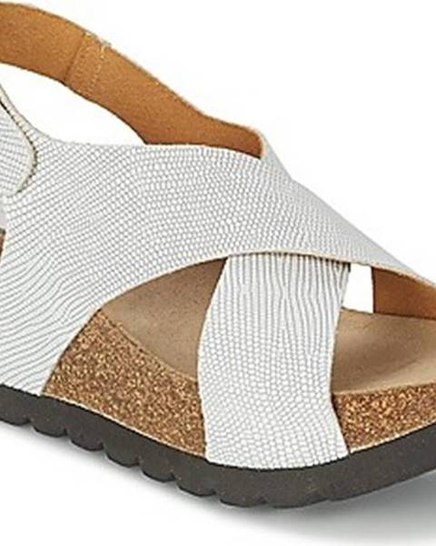 Bílé sandály Ganadora