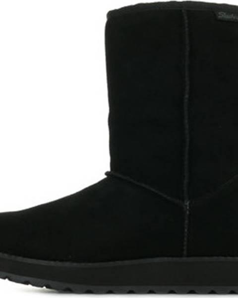 Černé kozačky Skechers