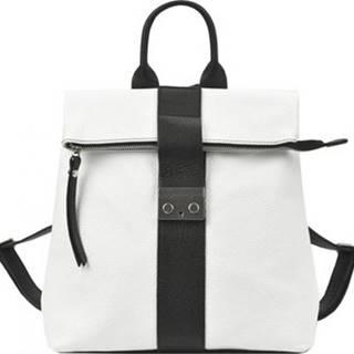 Patrizia Piu Batohy Kožený dámský módní batůžek bílá ruznobarevne