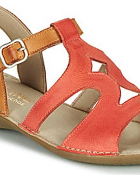 Červené sandály Dorking