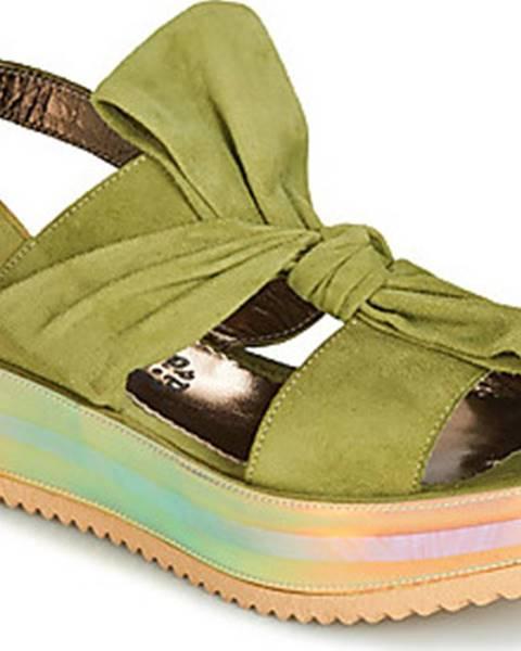 Zelené sandály Papucei