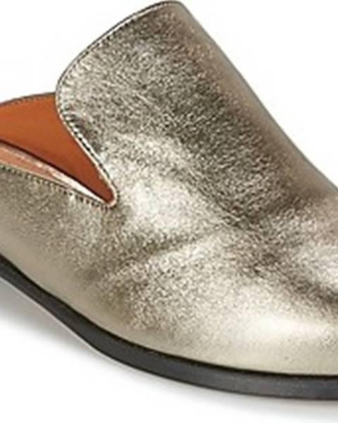 Stříbrné pantofle Robert Clergerie