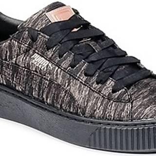 Puma Tenisky Basket Platform Bi Color Černá