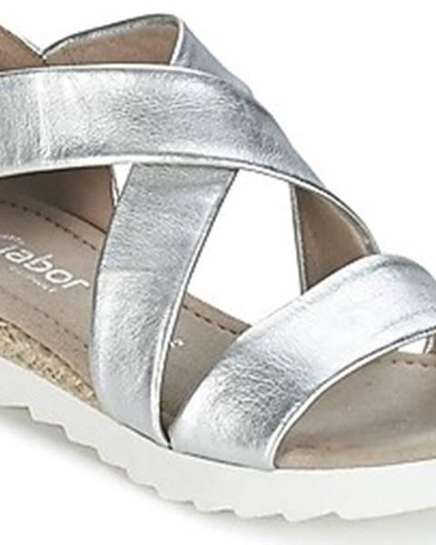 Stříbrné sandály Gabor