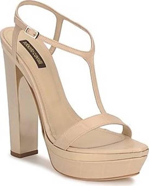 Béžové sandály Roberto Cavalli
