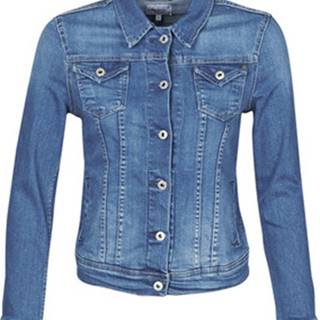 Pepe jeans Riflové bundy THRIFT Modrá