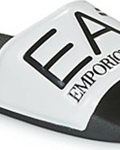 Černé pantofle Emporio Armani EA7