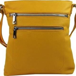 Mahel Kabelky s dlouhým popruhem Banánově žlutá crossbody dámská kabelka 336-MH Žlutá