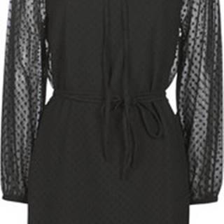 Petrol Industries Krátké šaty W-3090-DRS133-9999 Černá