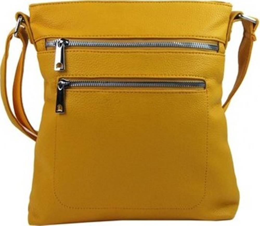 Mahel Mahel Kabelky s dlouhým popruhem Banánově žlutá crossbody dámská kabelka 336-MH Žlutá