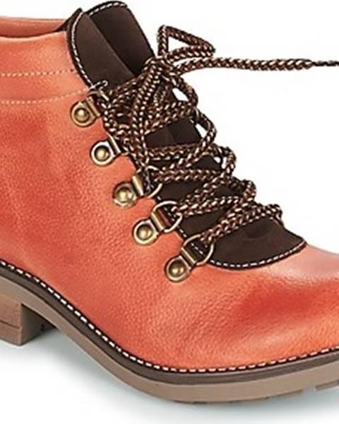 Oranžové boty Casual Attitude
