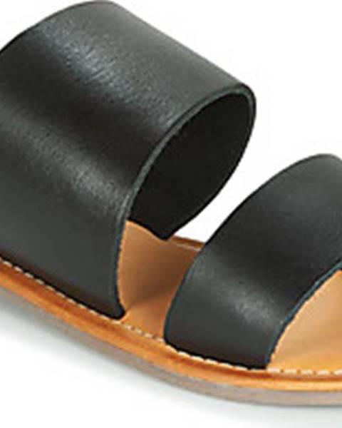 Černé pantofle Spot on