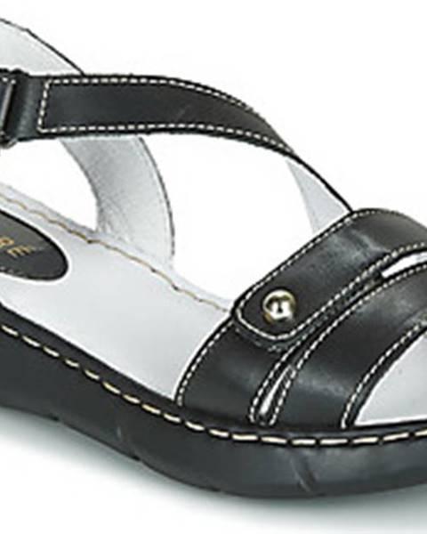 Černé pantofle André