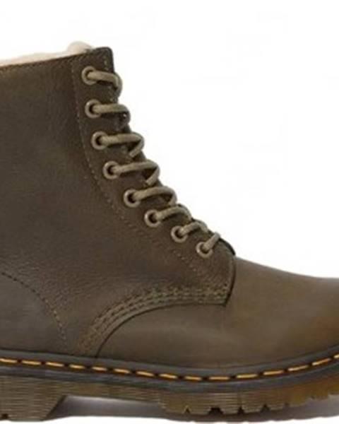 Hnědé boty Dr Martens