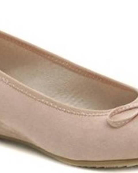 Růžové baleríny JANA