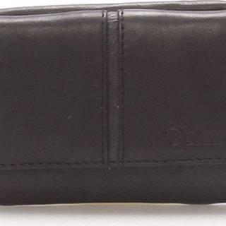 Delami Peněženky Kožená černá peněženka - 9386 Černá