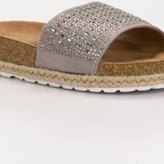 Seastar pantofle Exkluzívní nazouváky šedo-stříbrné dámské bez podpatku ruznobarevne