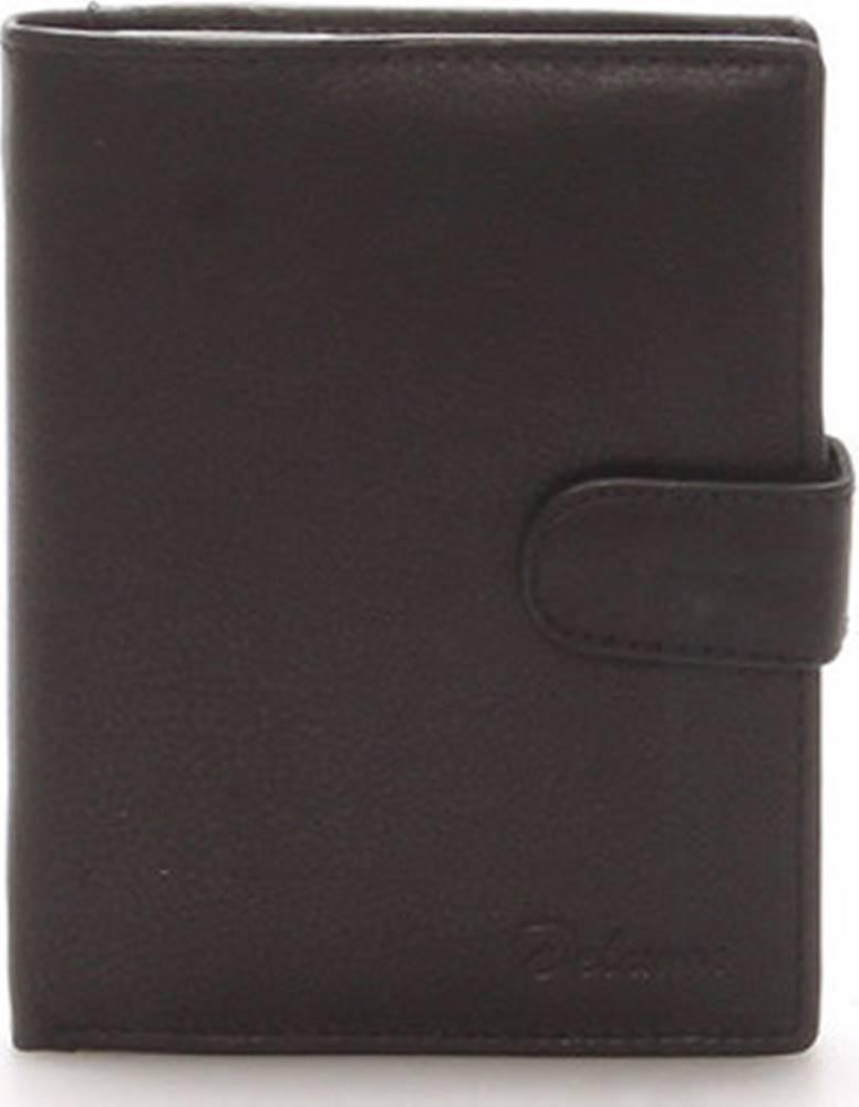 Delami Delami Peněženky Pánská kožená černá peněženka - 8703 Černá
