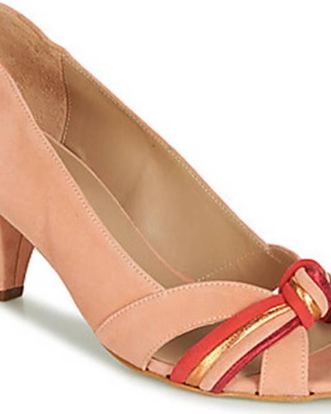 Růžové boty Bocage