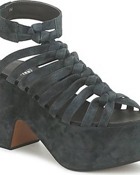Černé sandály Michel Perry