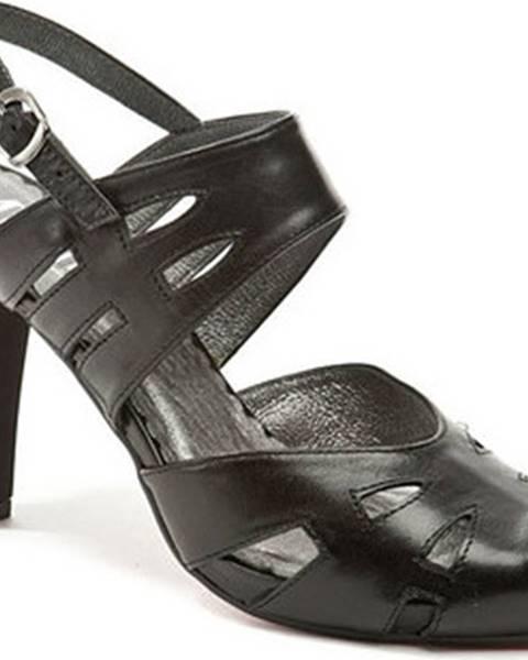 Černé sandály Abil