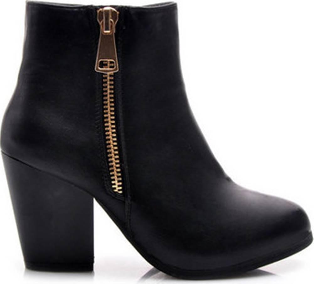 American CLUB American Club Kotníkové kozačky Parádní černé kotníčkové dámské boty s módním zipem ruznobarevne