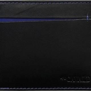 Cavaldi Peněženky černo-modrá pánská kožená peněženka Černá