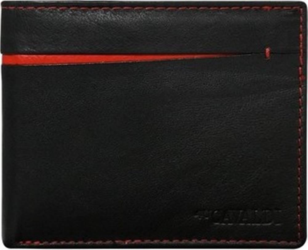 Cavaldi Cavaldi Peněženky černo-červená pánská kožená peněženka Černá