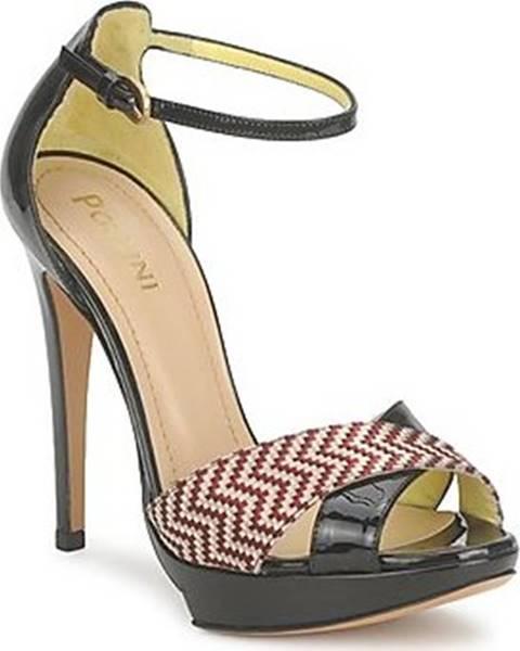 Černé sandály Pollini