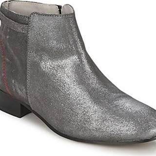 Alba Moda Kotníkové boty FLONI Stříbrná