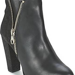 Shoe Biz Kotníkové kozačky RAIA Černá