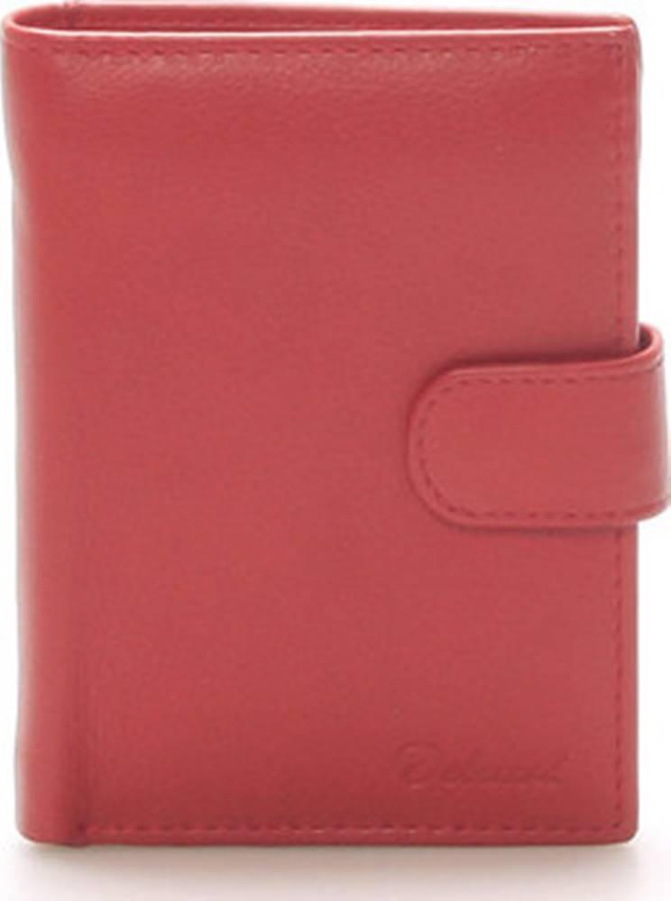 Delami Delami Peněženky Pánská kožená červená peněženka - 8703 Červená