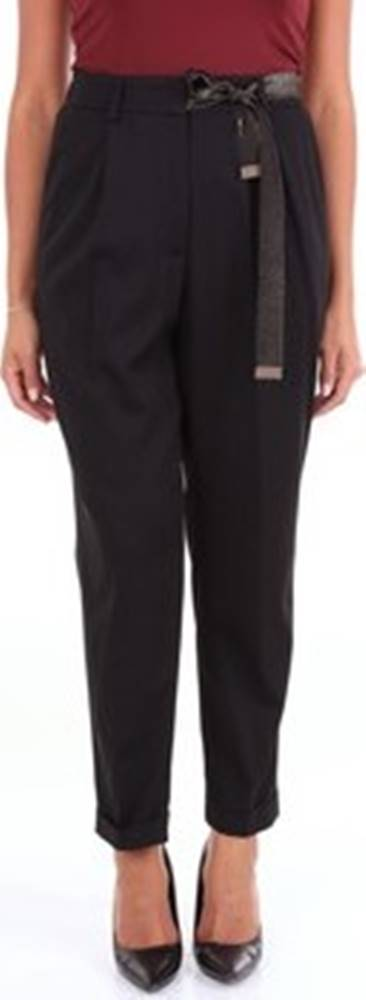 Peserico Peserico Ležérní kalhoty P0491000698 Černá