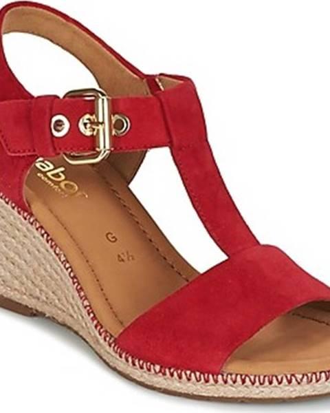Červené sandály Gabor