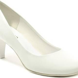 Di Janno Lodičky 672-2 bílé svatební dámské lodičky Bílá