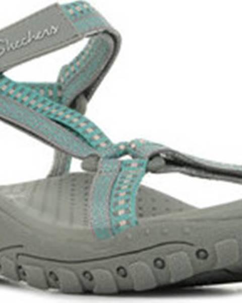 Zelené sandály Skechers