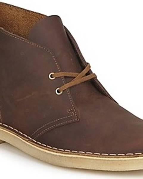 Hnědé boty Clarks