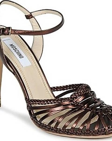 Hnědé sandály Moschino