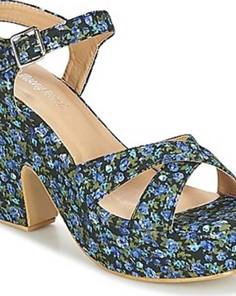 Modré sandály Moony Mood