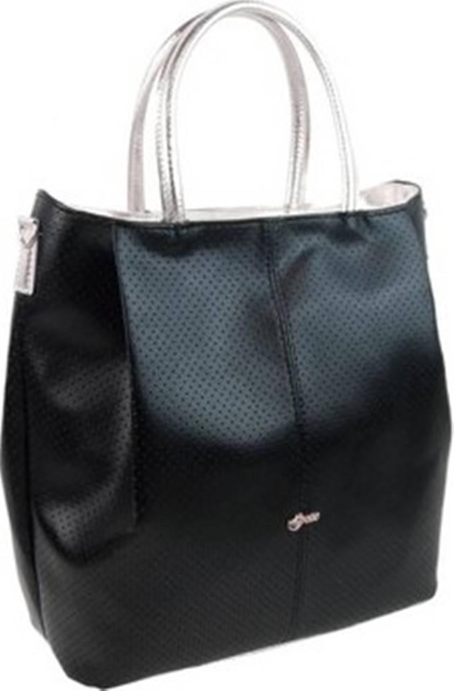 Grosso Grosso Kabelky Černá / stříbrná prostorná dámská kabelka S737 Černá