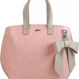 Grosso Tašky přes rameno Růžová dámská kabelka s mašlí S739 Růžová
