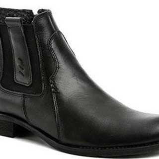 Koma Kotníkové boty 1091 černé pánské zimní boty Černá