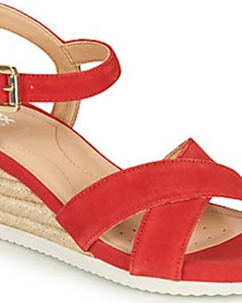 Červené sandály geox