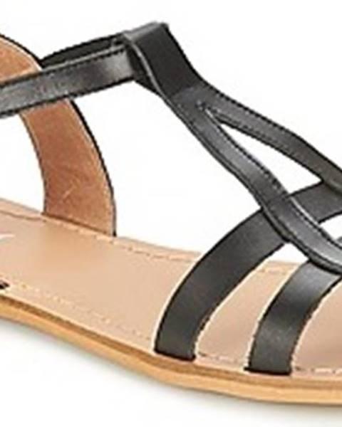 Černé sandály So Size