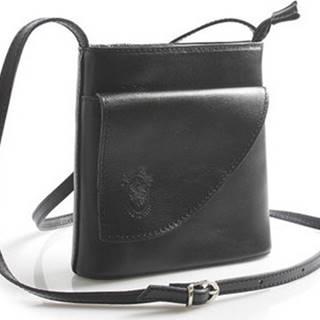 Italy Kabelky Dámská kožená crossbody kabelka černá - Cora Černá